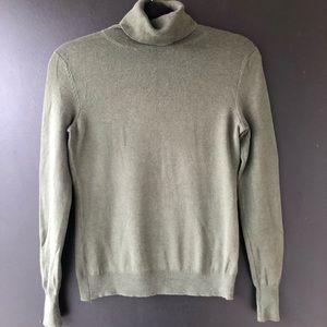 Banana Republic Olive Green Turtleneck Sweater XS